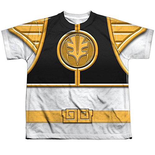 TeeShirtPalace Sublimation Youth: Power Rangers - White Ranger Costume All Over Print T-Shirt