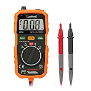 Digital Multimeter, Epsilont Auto-Ranging Digital Measuring Instrument AC Voltage Detector Amp Ohm Volt Meter Multi Tester Diode and Continuity Test Scanners DIY Hand Tools with Backlight LCD Display
