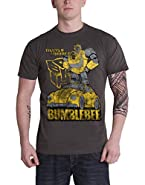 Transformers T Shirt Bumblebee Distressed Official Mens Charcoal