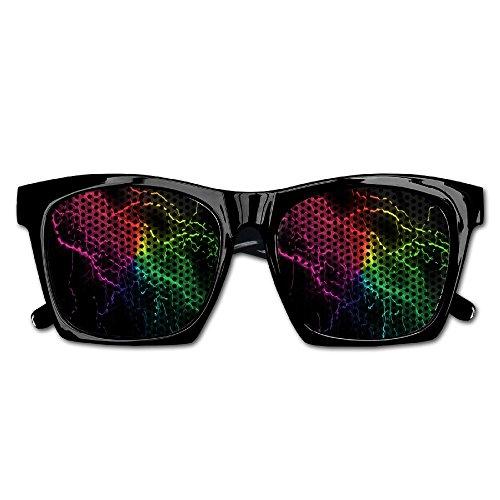 Elephant AN Themed Novelty Weird Rainbow Lightning Decoration Visual Mesh Sunglasses Fun Props Party Favors Gift - Sale For Weird Sunglasses