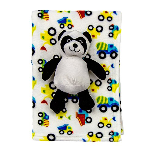 Cozy Fleece Super Soft Baby Blanket with Toy, Panda