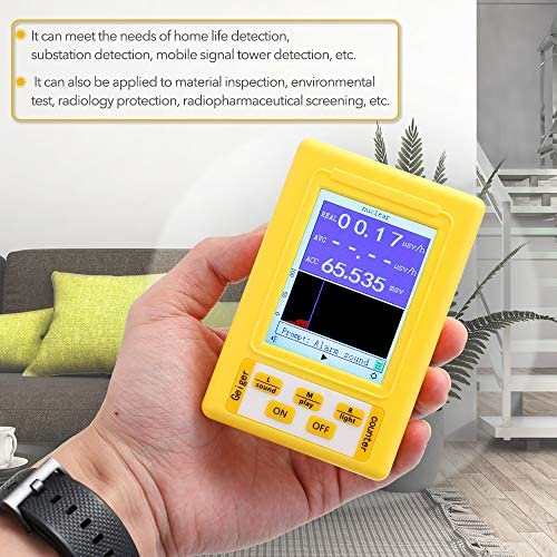 Tickas BR-9C 2-in-1 Handheld Portable Digital Display Electromagnetic Radiation Nuclear Radiation Detector Geiger Counter Full-Functional Type Tester,Handheld