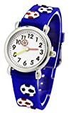 Tonnier 3D Kids Sport Watches Healthy Material Deepblue Rubber Band Children Watches Soccer Kids Watches for Boys