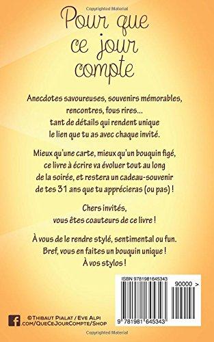 Amazon Bon Anniversaire 31 Ans Livre Carte Taille M Pour Que Ce Jour Compte Pialat Thibaut Crafts Hobbies