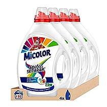 Micolor Detergente Líquido Adiós al Separar - Pack de 4, Total: 132 Lavados (6.6 L)