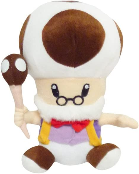 Amazon Com Mario Bro 10 Inch Mushroom Brown Toadsworth Plush