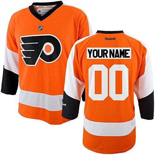Reebok Philadelphia Flyers Mesh (Custom Philadelphia Flyers Youth Replica Jersey (Youth (L/XL)))