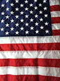 3X5 Best Pole Hem Sleeved Banner Nylon American Flag 3'x5′ US Flag Made in the USA Embroidered Stars Sewn Stripes by Flags Poles And More