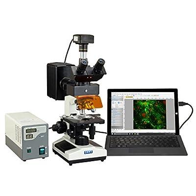 OMAX 40X-2500X 18MP USB 3.0 Digital EPI-Fluorescence Trinocular Compound Biological Lab Microscope