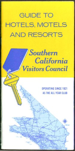 Southern California Hotel Motel Resort Guide 1960s from The Jumping Frog