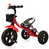 Children Tricycle Baby Carriage Bicycle Toy Car 2-6 Years Old Bike Trike Kid 3 Wheels (Color : Red)