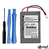 570mAh LIP1359 Battery Replacement for Sony Playstation 3 PS3 Dualshock 3 Wireless Controller CECHZC2E, CECHZC2U with Installation Tools