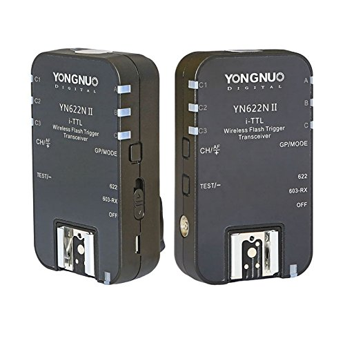 YONGNUO Wireless TTL Flash Trigger YN622N II with High-Speed Sync HSS 1/8000s for Nikon Camera by Yongnuo