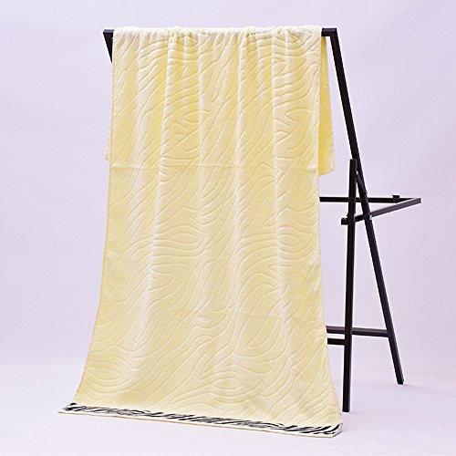 Nuova fibra set LI asciugamano SHOP Colore bambù di LU regalo da Giallo Giallo bagno spessore tqSRSE8x