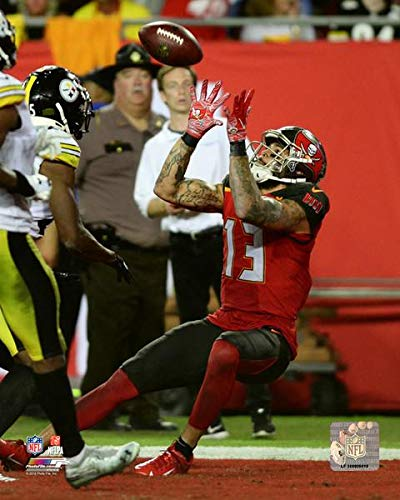 (Mike Evans Tampa Bay Buccaneers 2018 Action Photo (Size: 8