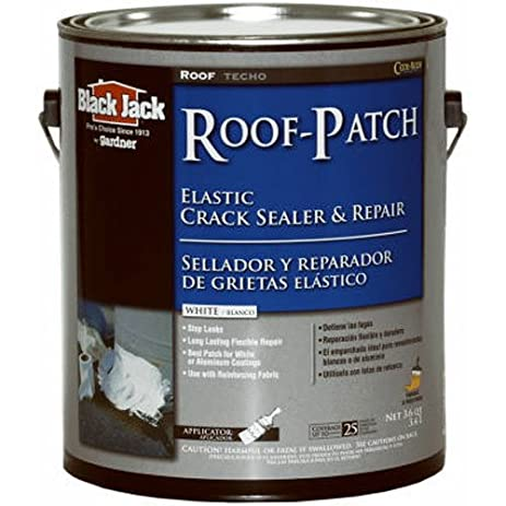 GARDNER GIBSON 1/20/5227 Black Jack 3.6 Quart White Acrylic Roof Patch