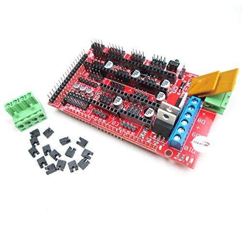 HiLetgo RAMPS 1.4 Control Panel 3D Printer Control Board Reprap Control Board Support Arduino Mega (1.4 Heater)