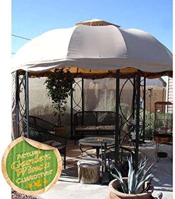 12 FT redondo Gazebo de repuesto toldo RipLock 350: Amazon.es: Jardín