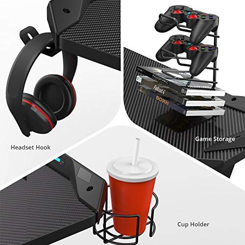 EUREKA ERGONOMIC Metal Gaming Accessories Bundle: Cup Holder, Headset Hook & PS4 Controller Game Rack, Black
