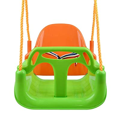 Leiyini 3 in 1 Toddler Swing Seat Detachable High Back Toddler Swing Outdoor Toddlers Children Hanging Seat Great for Tree, Swing Set, Backyard, Playground, Playroom: Toys & Games