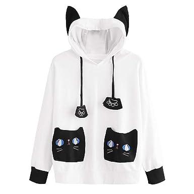Amazon.com: Pervobs - Sudadera con capucha para mujer ...