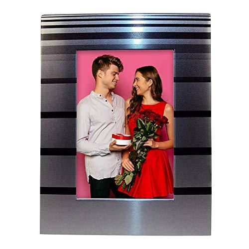 Clock Tabletop Stripe - Desktop Photo Frame 4