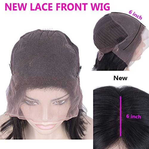 Pre Plucked 13X6inch Deep Part Lace Front Human Hair Wigs With Baby Hair For Black Women Malaysian Soft Virgin Hair (18inch)