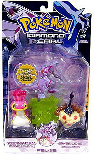 Pokemon Diamond & Pearl Series 5 Basic Figure 3-Pack Palkia, Shellos West & Wormadam [Sandy]