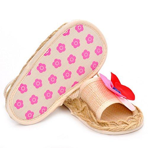 Domybest zapatos para bebé-niñas de flores, zapatillas elásticas de cordón