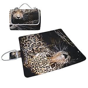 COOSUN Jaguar - Manta de picnic con retrato, resistente al moho y ...