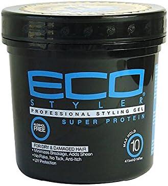 Eco Styler - Gel de peinado de 473 ml, tarro negro con súper ...