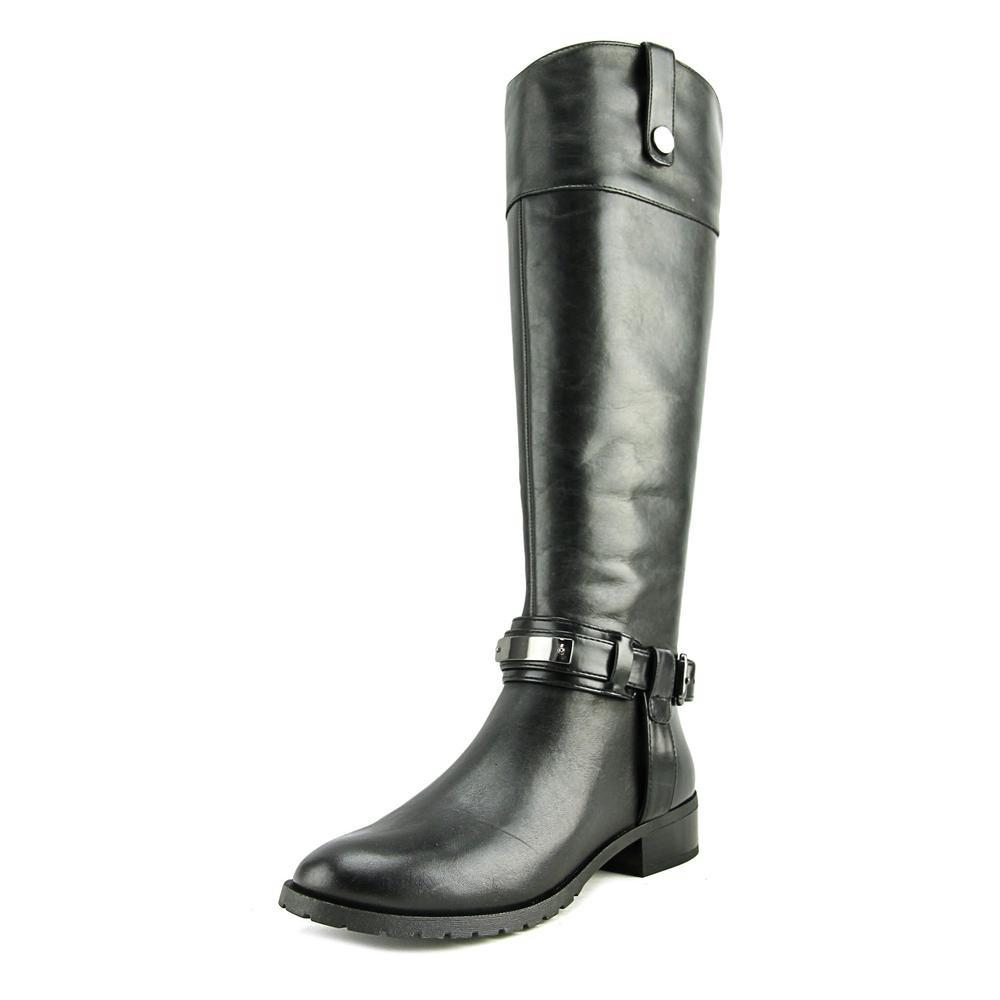 INC International Concepts Fabbaa Rund Leder Mode Mitte Calf Stiefel43 EU / 12 US Frauen|Black