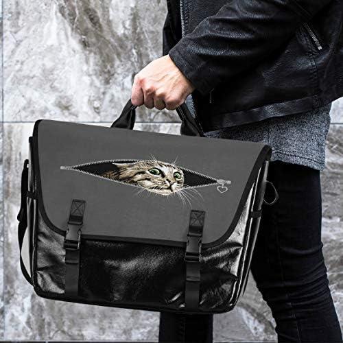 メッセンジャーバッグ メンズ ポケット猫 グレー 斜めがけ 肩掛け カバン 大きめ キャンバス アウトドア 大容量 軽い おしゃれ