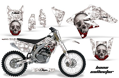 AMR Racing Graphics Kit for MX Suzuki RMZ 250 2007-2009 WITH Number Plates BONE COLLECTOR WHITE