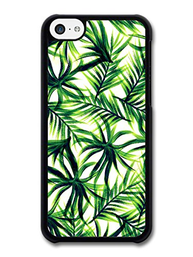 Tropical Palm Print Pattern in Cool Green Design coque pour iPhone 5C