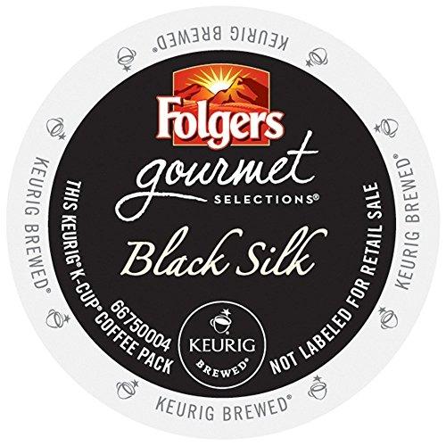 Folgers Gourmet Selections Black Silk Coffee K-Cups,Pack of 96 (Black Gourmet Coffee)