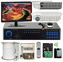 GW Security Inc 32CHE3 32CH 960H 19-Inch Realtime DVR IR LEDs Security Camera System LED (Black and White)