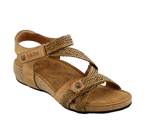 Taos Women's Trulie Wedge Sandal,Camel,40 EU/9-9.5 M US by Taos
