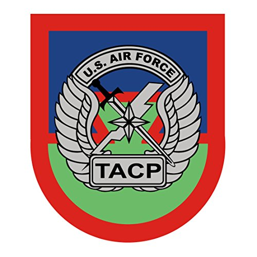 (US Army - US Airforce Tactical Air Control Party (TACP) Patch Decal - 3.5 Inch Tall Full Color Decal, Sticker)