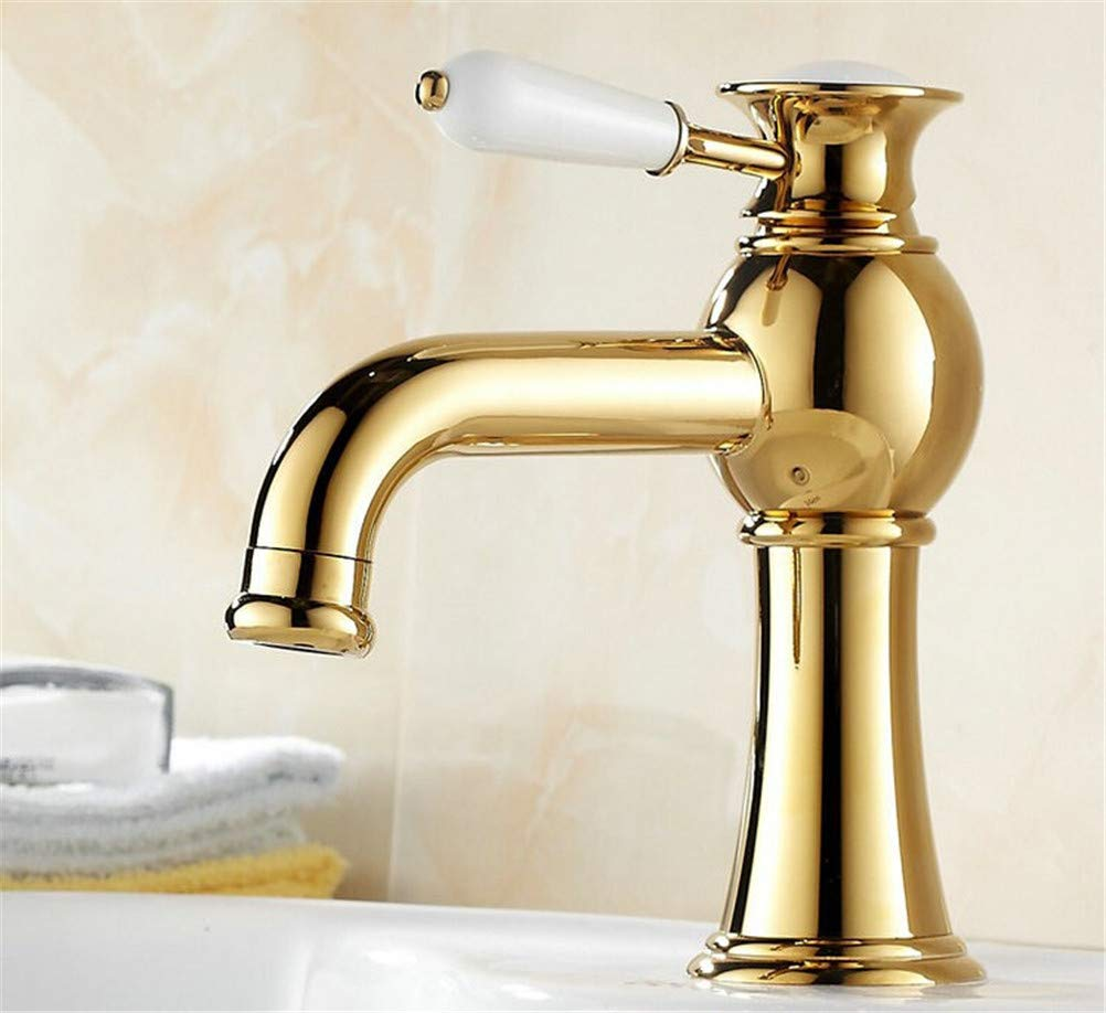 JONTON Badezimmer Badezimmer Waschmaschöne Waschtisch Wasserhahn Bad einzelnes Loch Mischwasser Heißes und Kaltes Badezimmer Küche Waschbecken Wasserhahn