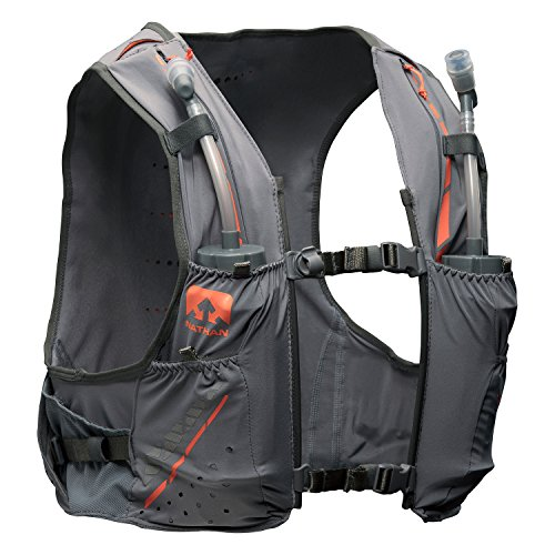 Nathan NS4535 Vaporkrar Hydaration Pack Running Vest with 1.8L Bladder, Steel Grey, Medium (Nathan Race Vest)