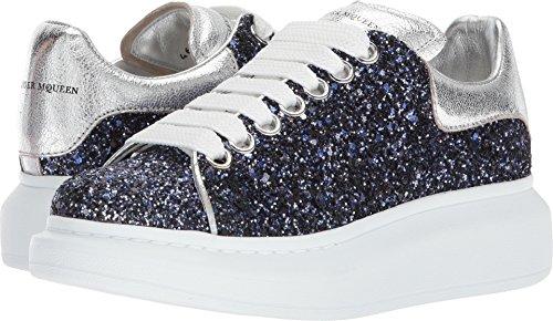 Alexander McQueen Women's Oversized Sneaker Midnight Blue/Silver 38.5 M EU