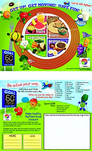 Learning Zonexpress 470152 Active Kids MyPlate 8-1/2