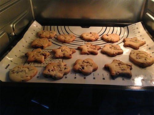 Tapis de Cuisson Patisserie en Silicone Anti-adhésif Réutilisable Baking Mat Fondant Pâte, 100% SANS Bisphénol-A (BPA),avec Mesure, 60 x 40 cm (Noir +Grattoir Cadeau)