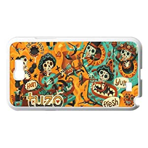 Samsung Galaxy Note 2 Case Day of the Dead Mariachi for Women, Samsung Galaxy Note2 Case Luxury Jackalondon, [White]