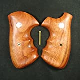 RUAYMAK HANDIWORKGRIPS ROSEWOOD GRIPS SMITH&WESSON REVOLVERS N FRAME, SQUARE BUTT HANDMADE SILVER MEDALLIONS FINGER GROOVE SPORT OUTDOOR SWN-128