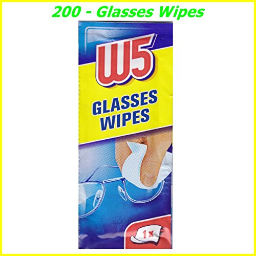 200 CLEANING WIPES Suitable to Clean glasses, cameras, binoculars, car mirrors, helmet visors, computer screens, televisions, mobile phones iphone Android