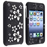 Laser Black Hawaii Clip On Crystal Case Compatible With Apple iPhone 3G / Apple iPhone 3GS by eForCity