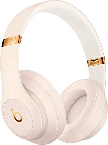 Beats Studio3 Wireless Bluetooth Over Ear Headphones with Universal USB Charging Cable and Carrying Case in Porcelain Rose