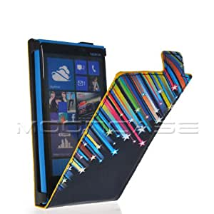 Mooncase Meteor Style Leather Flip Pouch Case Cover With Screen Protector for Nokia Lumia 920